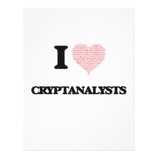 I love Cryptanalysts (Heart made from words) 21.5 Cm X 28 Cm Flyer