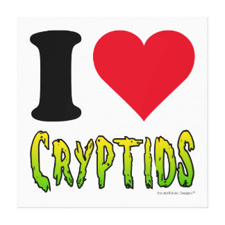 I Love Cryptids Gallery Wrapped Canvas