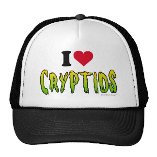 I Love Cryptids Hats