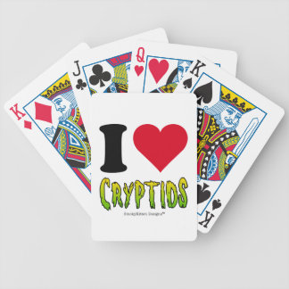 I Love Cryptids Bicycle Poker Deck