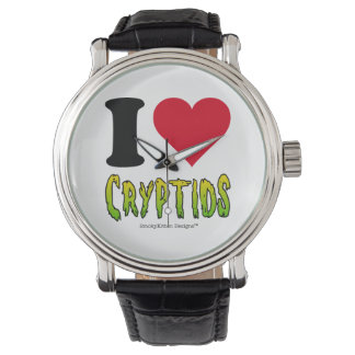 I Love Cryptids Wrist Watches
