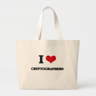 I love Cryptographers Canvas Bags