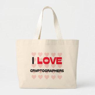 I LOVE CRYPTOGRAPHERS CANVAS BAG