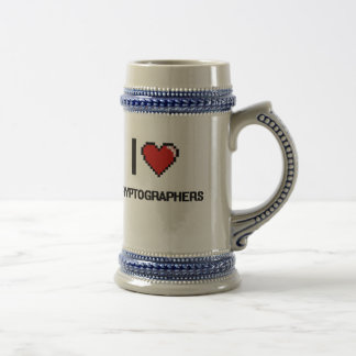 I love Cryptographers Beer Steins