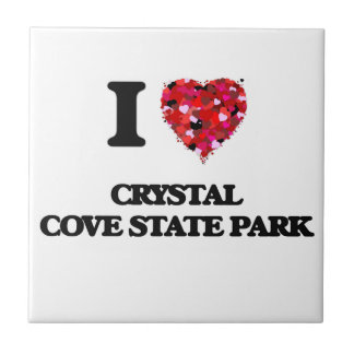 I love Crystal Cove State Park California Small Square Tile