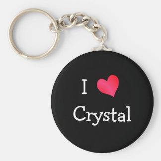 I Love Crystal Key Ring