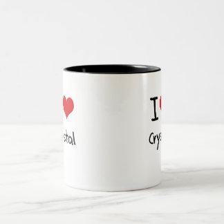 I love Crystal Two-Tone Mug