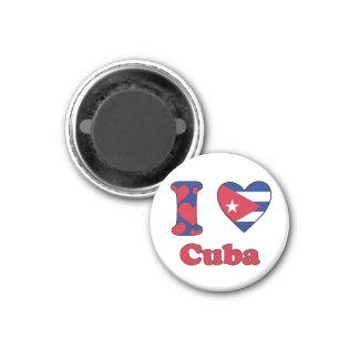 I love Cuba 3 Cm Round Magnet