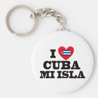 I Love Cuba Basic Round Button Key Ring