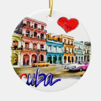I love Cuba Christmas Ornament