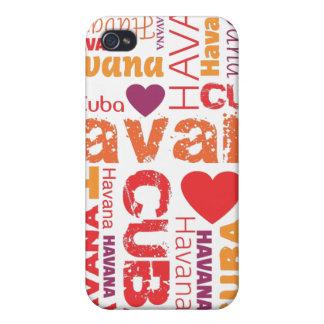 i love cuba havana typography iphone case iPhone 4 covers