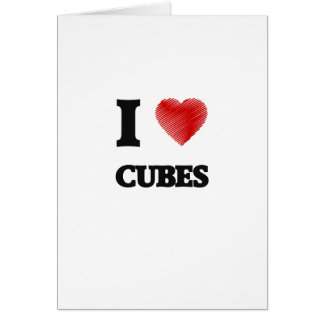 I love Cubes Greeting Card