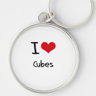 I love Cubes Keychains