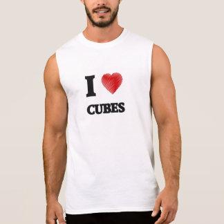 I love Cubes Sleeveless Shirts