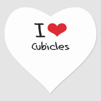 I love Cubicles Heart Sticker