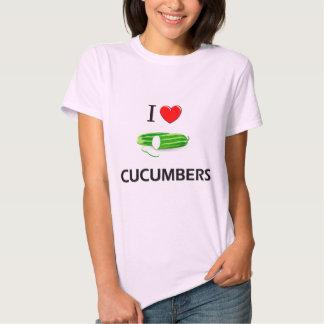 I Love Cucumbers Tshirts