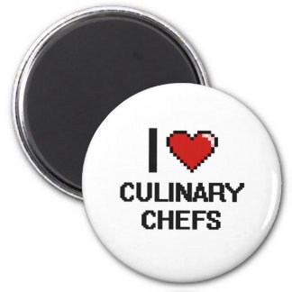 I love Culinary Chefs 2 Inch Round Magnet