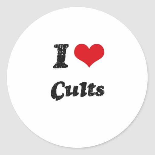 I love Cults Round Stickers