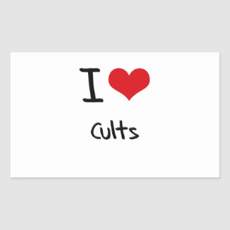 I love Cults Rectangle Stickers