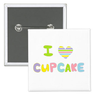 I Love Cupcake Pinback Buttons