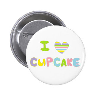 I Love Cupcake Buttons