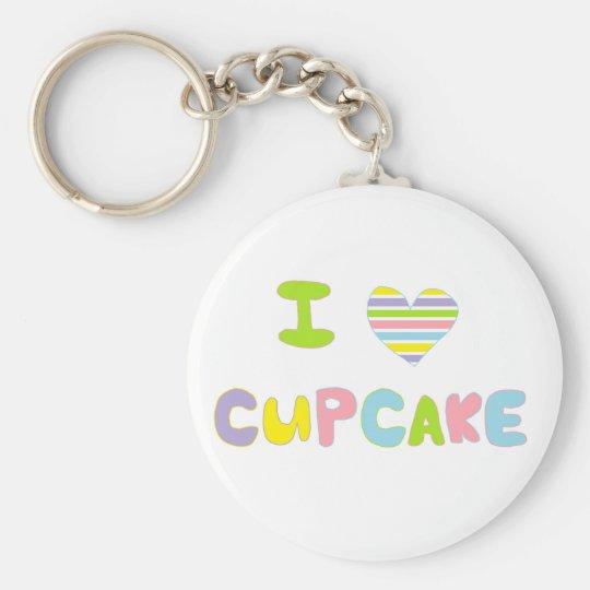 I Love Cupcake Key Ring