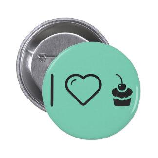 I Love Cupcakes 6 Cm Round Badge
