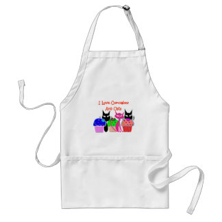 """I love cupcakes and cats""--Cupcake Lovers Gifts Standard Apron"