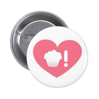 I Love Cupcakes Baby Pink Button