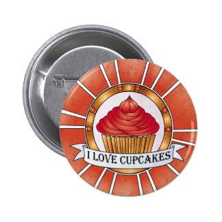 I love cupcakes pins