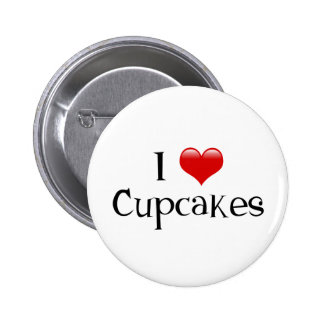 I Love Cupcakes Pinback Buttons