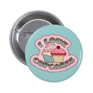 I Love Cupcakes Button