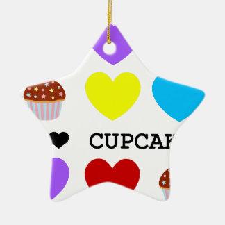 i love cupcakes bright design cupcake ceramic star decoration