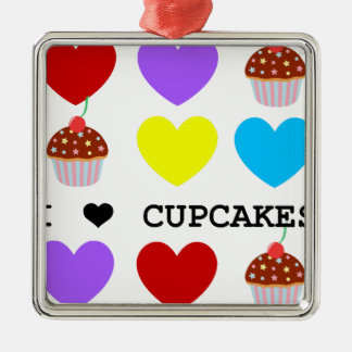 i love cupcakes bright design cupcake christmas ornament