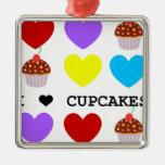 i love cupcakes bright design cupcake christmas tree ornament