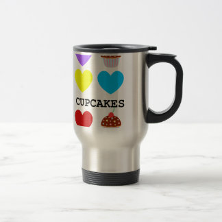 i love cupcakes bright design cupcake travel mug