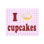 I Love Cupcakes Canvas Prints