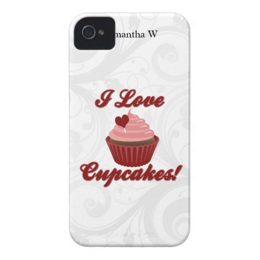 I Love Cupcakes Blackberry Case