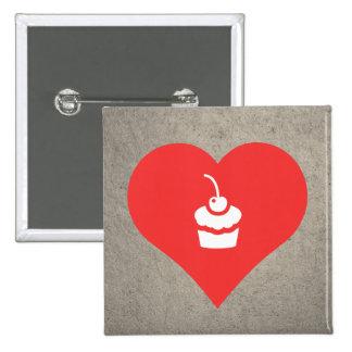 I Love Cupcakes Design 15 Cm Square Badge