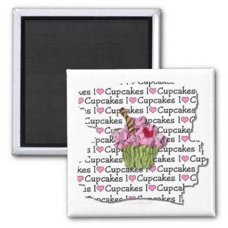 I Love Cupcakes  Gifts Apparel Collectibles Fridge Magnet
