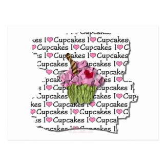 I Love Cupcakes  Gifts Apparel Collectibles Post Card