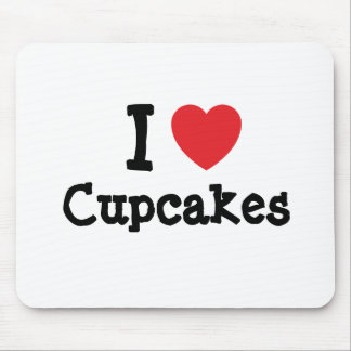 I love Cupcakes heart T-Shirt Mouse Pad