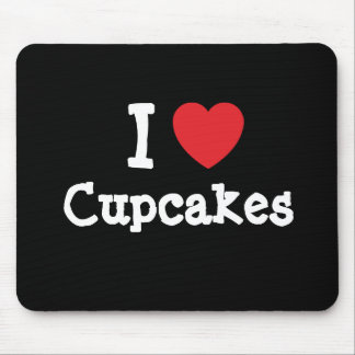 I love Cupcakes heart T-Shirt Mouse Pads
