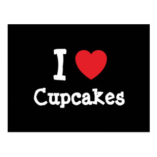 I love Cupcakes heart T-Shirt Postcard