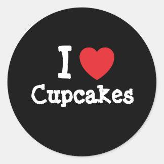 I love Cupcakes heart T-Shirt Sticker