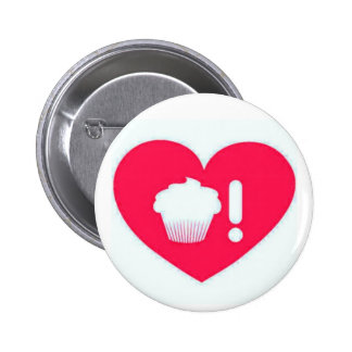 I Love Cupcakes Hot Pink Button