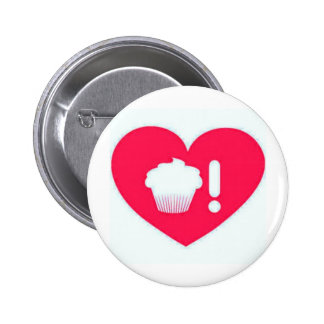 I love Cupcakes Hot Pink Pinback Button