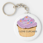 I LOVE CUPCAKES KEYCHAINS