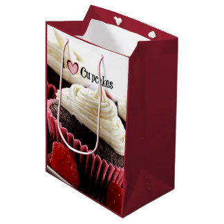 I Love Cupcakes Medium Gift Bag