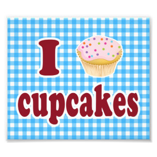 I Love Cupcakes Photograph